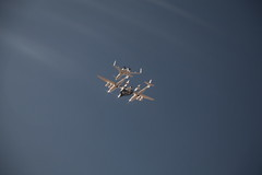 VMS EVE carries VSS Enterprise on her first manned flight. Photo by Mark Greenberg