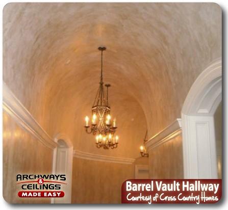 Sheetrock Barrel Vault Ceiling