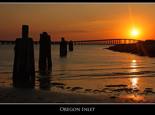 sunset silhouette nc northcarolina outerbanks obx oregoninlet bonnerbridge