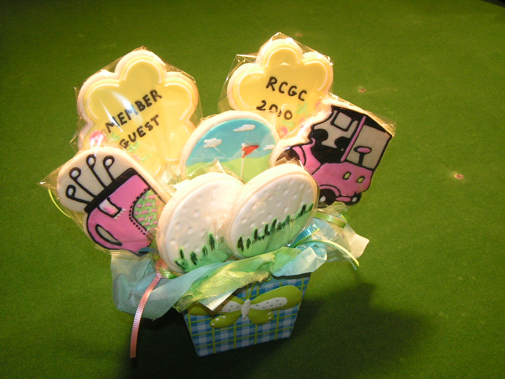 golf cart cookie bouquets 006