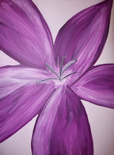 The gallery for easy flower paintings for beginners on for Simple flower paintings for beginners