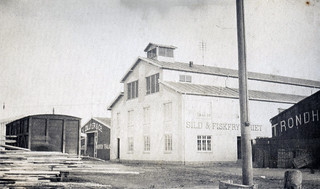 Sild- & Fiskfryseriet på Brattøra - Brødrene Peusa (ca. 1915)