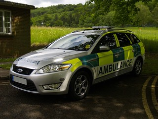 South Central Ambulance Service - Ford Mondeo, location can't be disclosed; 2010.