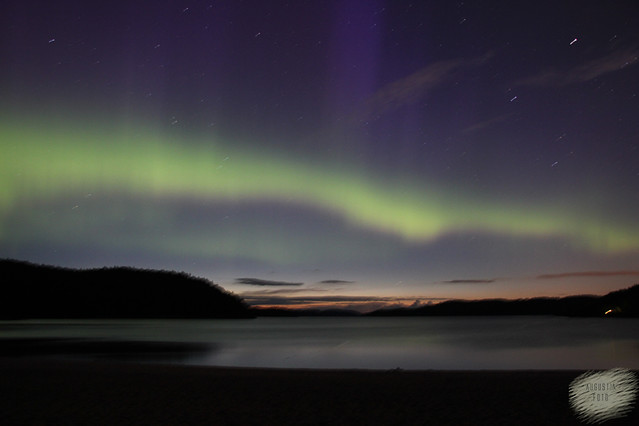 Northern light over Grimstad