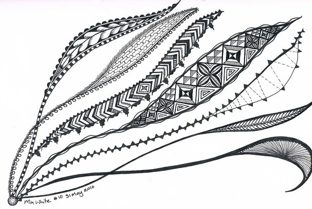 2010_05_31 Min zentangle - seaweed | When they say 'finish y ...