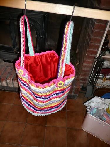 Granny Stripe bag, lined2