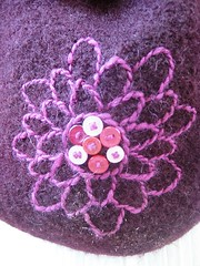 Embroidered Felted Backpack Flower