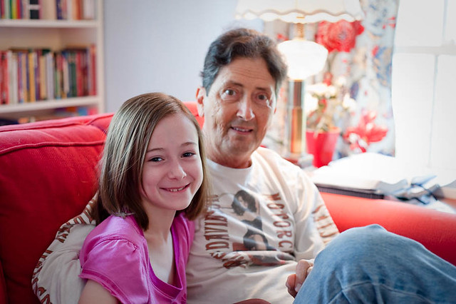 Kathryn and Grandpa, 2010