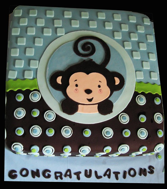 Baby shower cakes monkey baby shower cakes for a boy - Baby shower cakes monkey theme ...