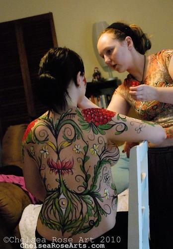 body paint commission