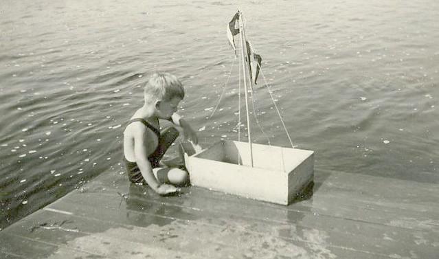 Lillle Boy Toys Boats : S vintage photo little boy w toy boat flickr