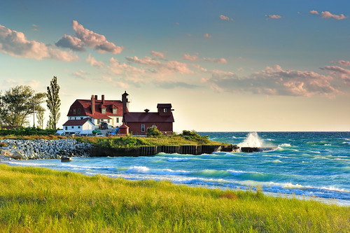 """Winds of Change""  Point Betsie Lighthouse."