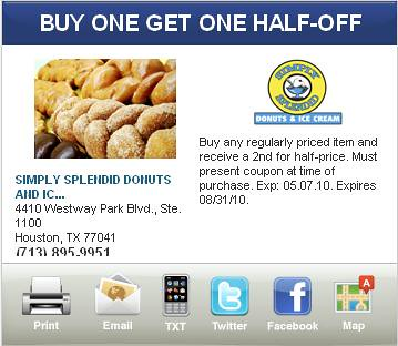 Houston Donuts discount offers
