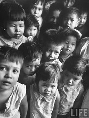 Orphans found in squatters camp, Philippines 1951, by Howard Sochurek
