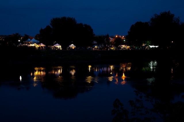 Festival lights on the Androscoggin