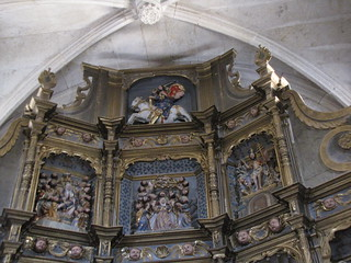 Iglesia de San Benito - Parte superior retablo procedente iglesia de Santiago