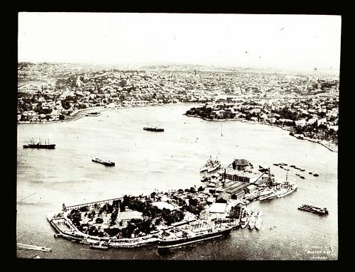 Aerial view of Garden Island