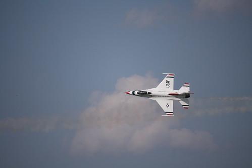 sky clouds aircraft airshow f16 thunderbirds usaf