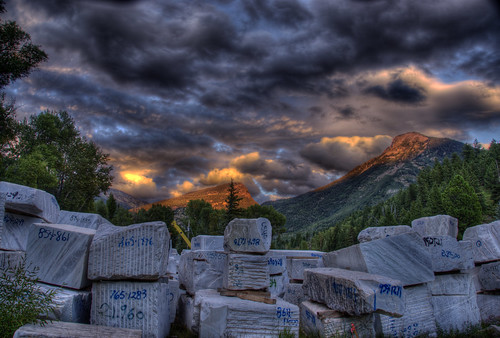 sunset mountain mill industry rock stone clouds colorado crystal mining mineral marble quarry 201008