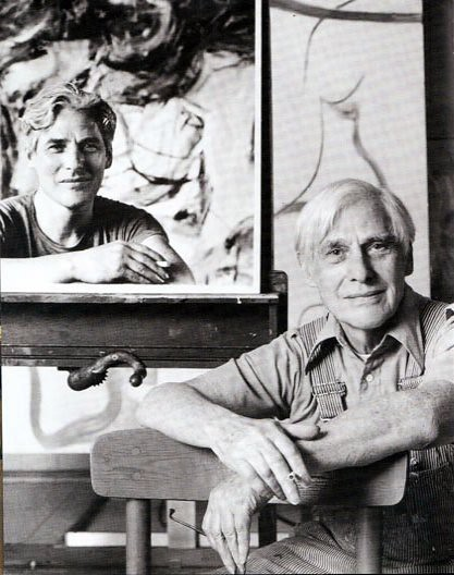Willem de Kooning, 1991, double-portrait by Hans Namuth
