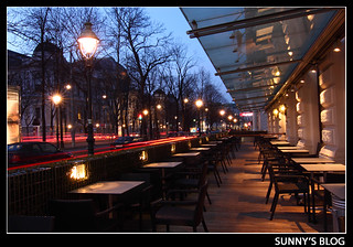 Cafe' Landtmann at Dusk