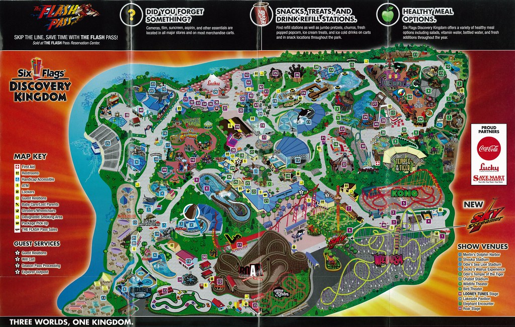 Six flags discovery kingdom 2011 map a photo on flickriver six flags discovery kingdom 2011 map gumiabroncs Images