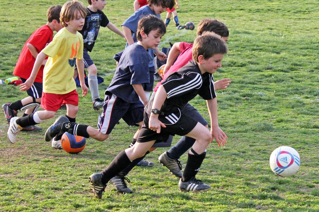 soccer practice [thundering herd of small boys]