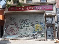 F.W. Woolworth Co. Security Gate Mural, Bushwick, Brooklyn, New York City