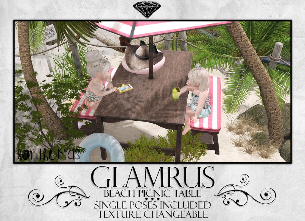 Glamrus Kids . Beach Picnic Table AD - SecondLifeHub.com
