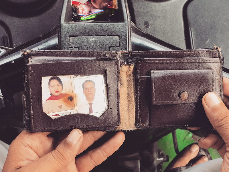 The Wallet Selects Her Own Society... from the Possessions of Auto Rickshaw Driver Kishen Lal