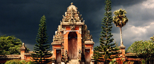 temple with storm behind (Bali)