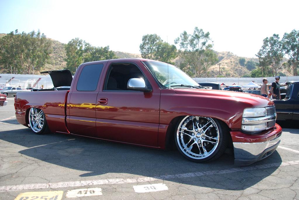 SLAMMED CHEVY SILVERADO EXTENDED CAB PICKUP TRUCK - a ...