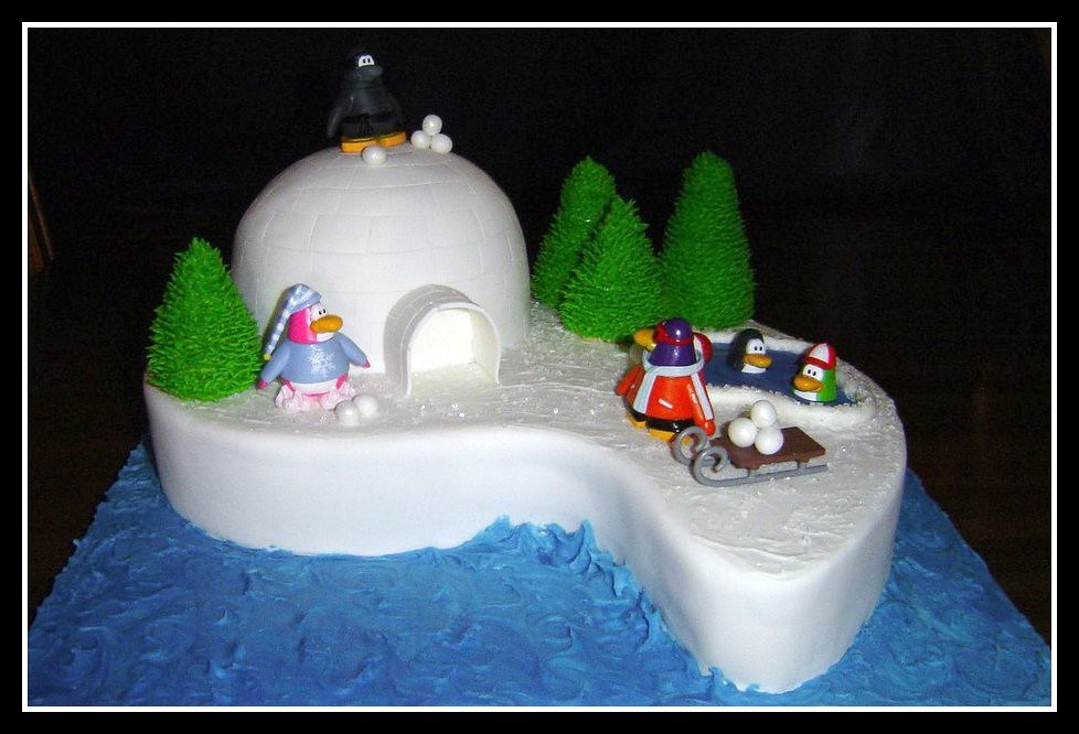 Club Penguin Birthday Cake A Photo On Flickriver