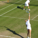 Kim Clijsters serve