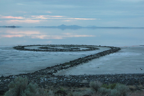 Robert Smithson's Spiral Jetty - North Shore of The Great Salt Lake, Utah