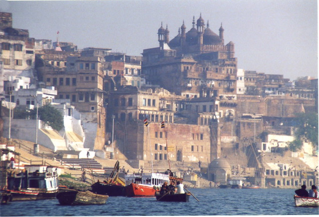 Varanasi view from river Ganges by CC user vaticanus on Flickr