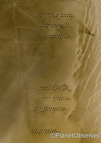 Agriculture in the Libyan desert, Libya - Satellite image - PlanetObserver