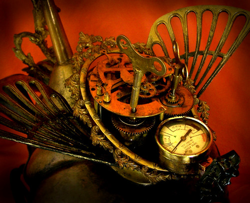 FOIBLE - The Steampunk Dragon Robot Sculpture - detail 4
