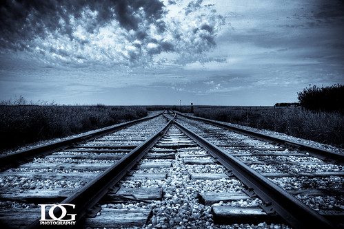 road railroad blue canon rail davin saskatchewan hdr highdynamicrange limerick prarie eos450d gegolick daving rebelxsi davingphotography