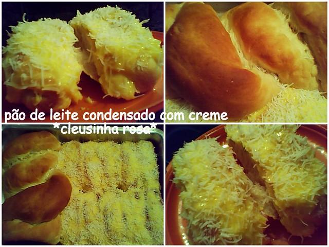 pão de leite condensado com creme