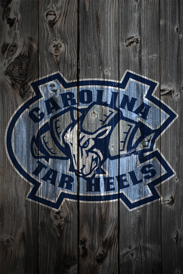 North Carolina Tar Heels Wood IPhone 4 Background