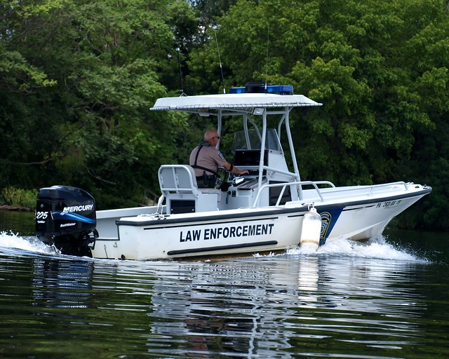 Law enforcement patrol boat schuylkill river for Pa boat and fish commission