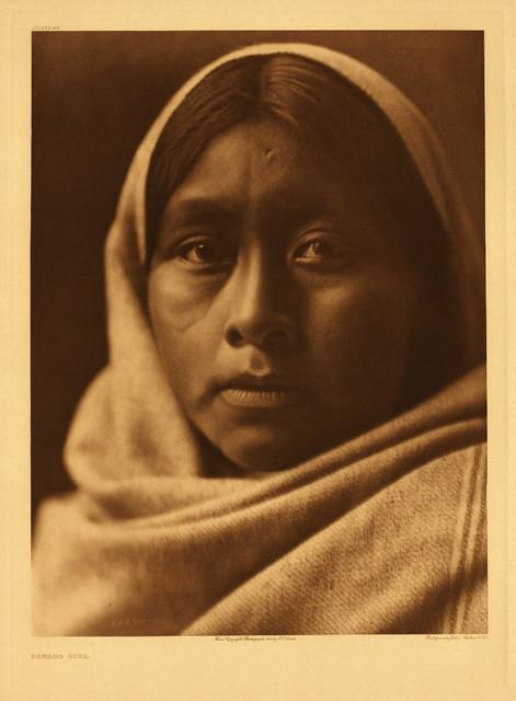 Papago girl, by Edward S. Curtis