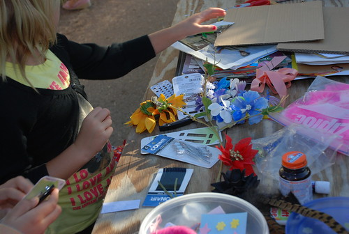 crafts table at Fairy-Tale farm