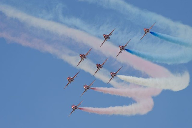 Red Arrows bank turn