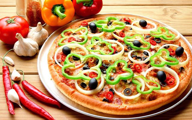 пицца с перцем