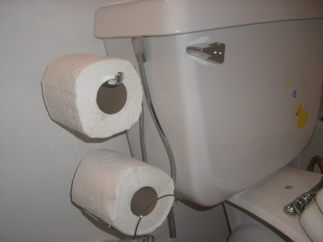 Toilet Paper Holder Alternative To The One In The Wall