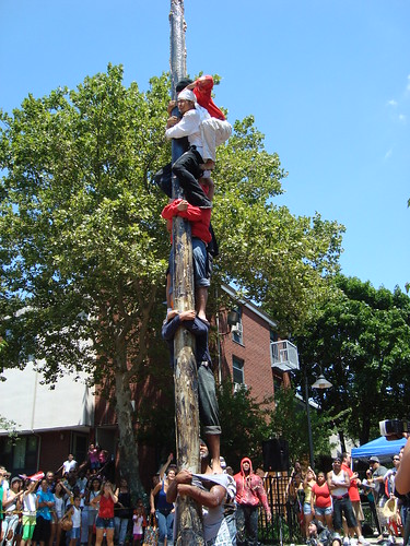 Greased Pole Competition at Festival Betances