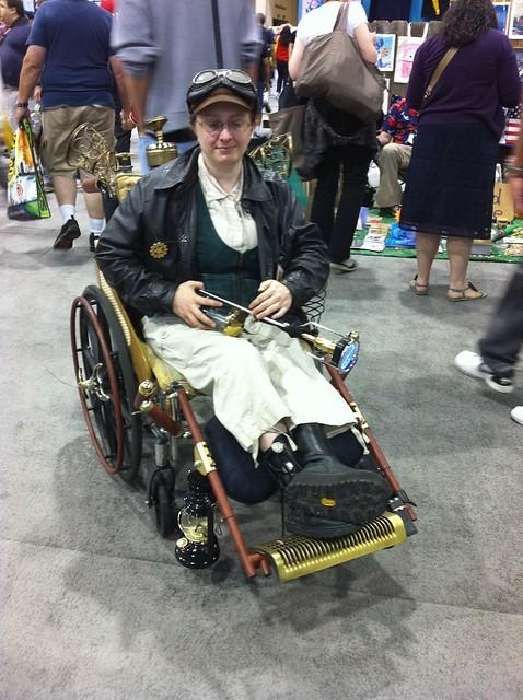Steampunk wheelchair! #sdcc