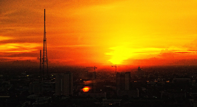 Bangkok sunset   Flickr - Photo Sharing!